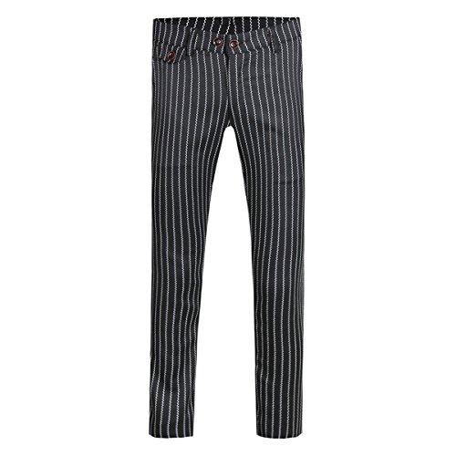 Cotton Plaid Trousers - Mens Pants Straight Fit Flat Front Plaid Stripe Comfort Suit Pant Dress Trousers