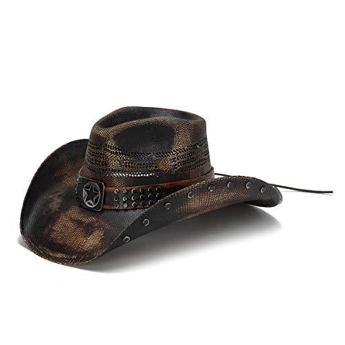 (Stampede Hats Men's Big Lone Star Studded Lone Star Western Hat S Black )