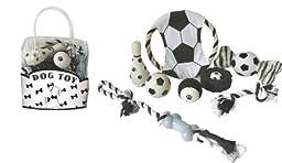 PET LIFE Pet Toy Gift Set, Black and White