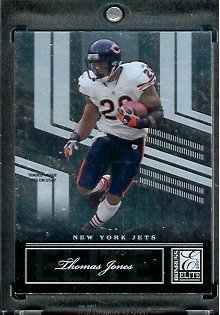 Jones Thomas Football Nfl (2007 Donruss Elite #19 Thomas Jones - NFL Football Card)