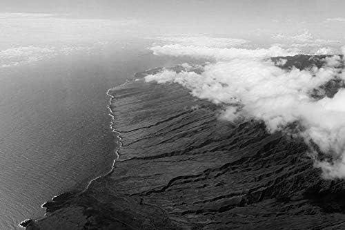 マウイ島の壁紙-自然の壁紙-#37483 - 白黒の キャンバス ステッカー 印刷 壁紙ポスター はがせるシール式 写真 特大 絵画 壁飾り50cmx33cm