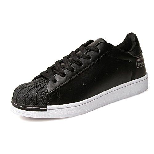 hydne-mens-fashionable-casual-simple-lace-up-flat-comfortable-vintage-shoes42-m-eu-9-dm-usblack