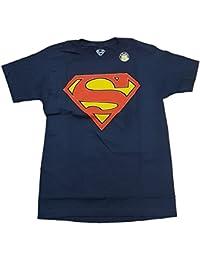 DC Comics Superman Glow In The Dark Logo Navy Graphic T-Shirt