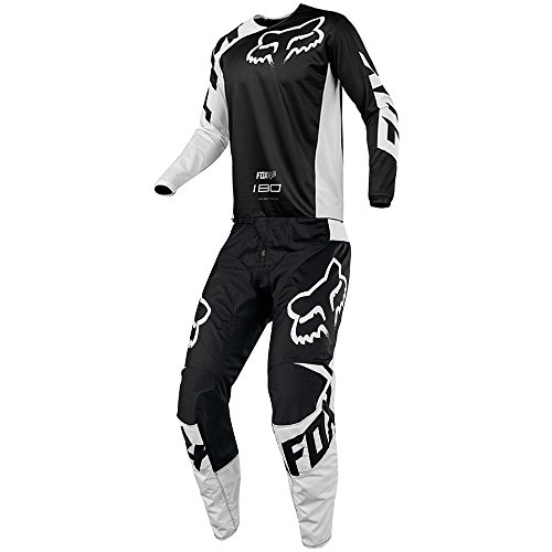 Fox Racing 180 Race Black Jersey/Pant Youth Combo - Size Y-MEDIUM/24W (Jersey Youth Race)