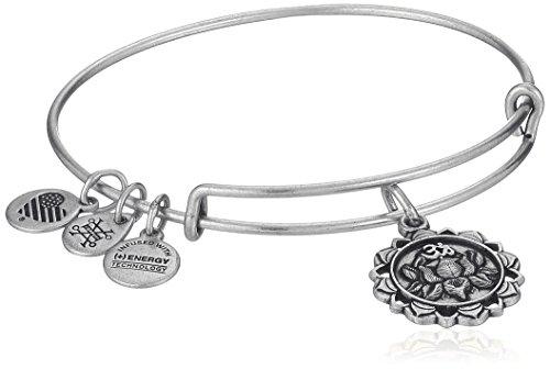 Alex and Ani Lotus Peace Petals IV Rafaelian Silver Bangle Bracelet by Alex and Ani