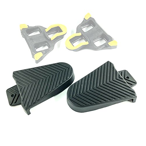 Thinvik Bicycle Shoe Cleat Rubber Cover Set for Shimano SPD-SL Pedal Cleats Systems ()