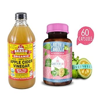 Amazon Com 16oz Braggs Apple Cider Vinegar 95 Hca Garcinia