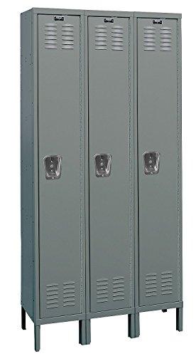 HALLOWELL U3288-1HG Premium 1-Tier Steel Locker, 3 Locker Wide, Unassembled, 12