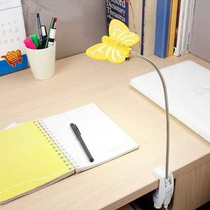 Renata LED Flyte Clamp - Cool White Light - Yellow (with AC Adapter) Reading Lights at amazon