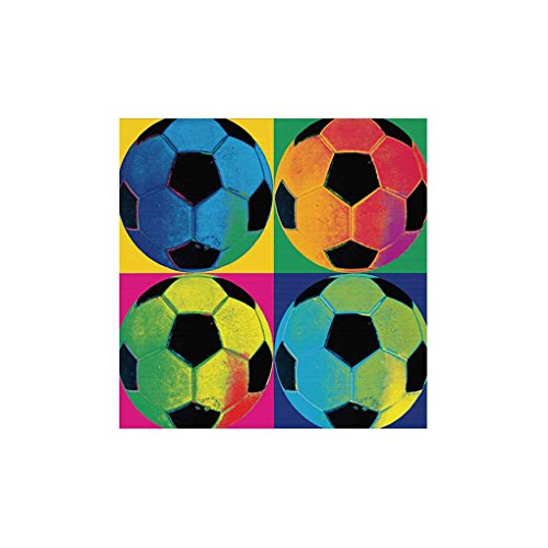 OmkuwlQ Colorful Football Soccer Oil Paintings Canvas Art Wall Oil Picture No Frame Poster Single Panel Drawing