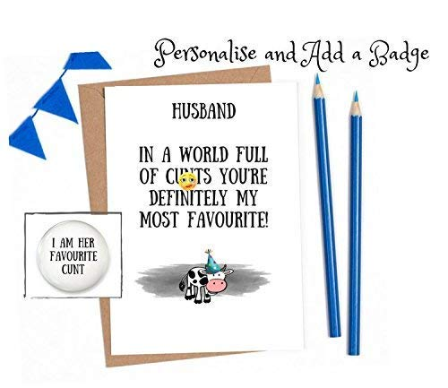 Rude Birthday Cards Husband Naughty Cards For Him 1 X Card With