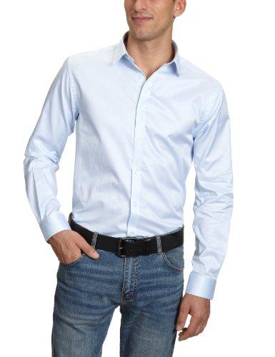 Jones Manches Longues Bleu Cintrée amp; Jack Homme Blue Col shirt Coupe Business Premium Classique Chemisier Chemise 5w1wS4vx