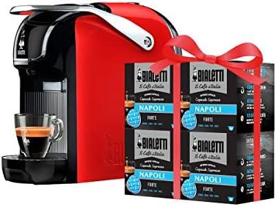 Bialetti Break – Macchina Caffè Espresso a Capsule in Alluminio con sistema Bialetti il Caffè d'Italia, Design compatto, Include 64 capsule in omaggio, Rosso