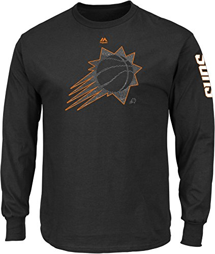 NBA Phoenix Suns Men's Easy Choice Long Sleeve Basic Tee, Large, - Mens Jerseys Phoenix Suns