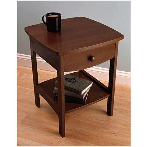 Winsome Wood Claire Accent Table, Walnut