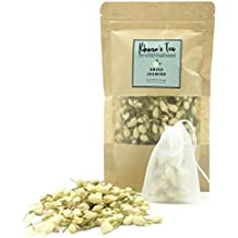 Pure Dried Jasmine Flower Buds Petals Herbal Decaf Tea 1.76 oz 100% Natural NonToxic GMO - Free Organic Botanical Flowers Kit Get Free Tea Filter Bags Safe & Natural Material