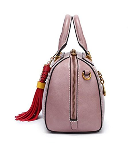 Womens Portable Shoulder Package Sac Carré Diagonale Bag Main À Bandoulière Petit Sacs Nouveau Printemps Pink IqfPn