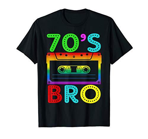 70's Bro T-Shirt Gift For Halloween Family Matching Costume ()