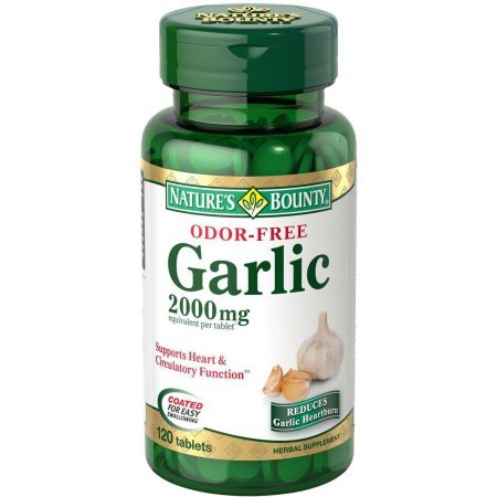 Nature's Bounty Garlic, 2000mg, Odor-Free, 120 Tablets ( Economy Pack of 8) ()