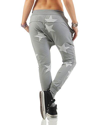 Il Chiaro Jogger 46 83988 Pantaloni Unica Big Boyfriend Tempo Star grigio taglia Per Zarmexx 40 Liberoyogapants Larghi Sportivi 8XFqT