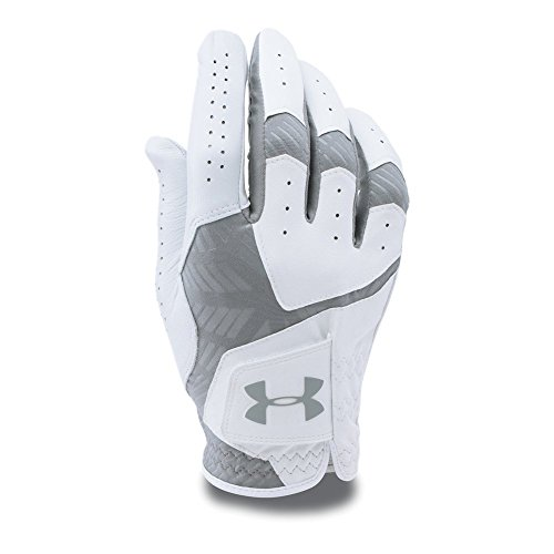 Under Armour Men's CoolSwitch Golf Glove, White /Steel, Left Hand Large