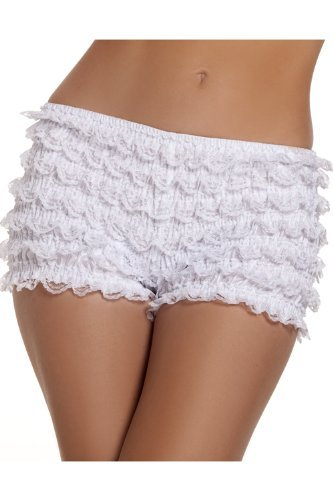 Womens Referee Costume With Shorts (Stretch Ruffle Shorts Adult Costume Accessory White - One Size)