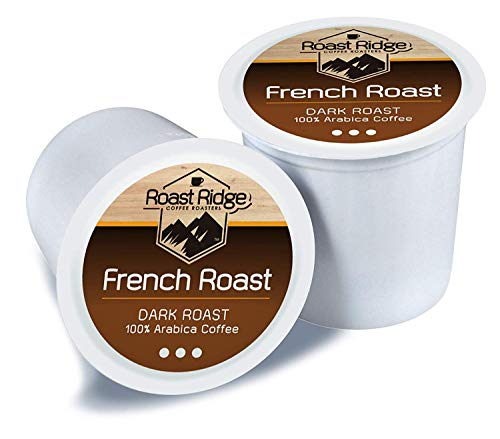 (Roast Ridge Coffee Roasters French Roast Single Cup Coffee 100 Count Hot Beverage Cups, Compatible with Most Single-Serve Brewing Systems that Accept K-Cups, Including Keurig 2.4)