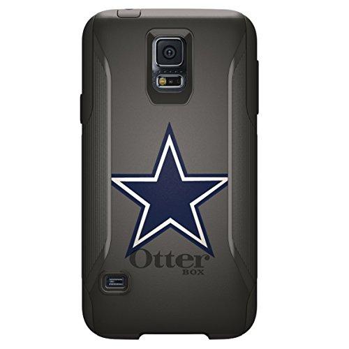 (DistinctInk Case for Galaxy S5 - Custom Black OtterBox Commuter - Dallas Star Grey Navy - Football Team)