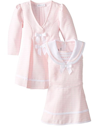 Bonnie Jean Baby-Girls Houndstooth Coat and Dress Set (18 Months, ()