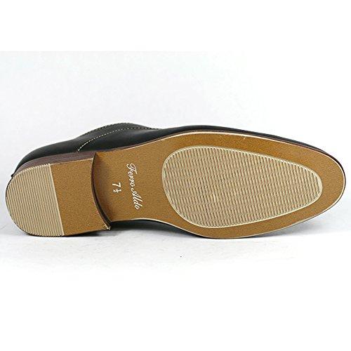 Ferro Aldo Mfa-139255 Noir Hommes Lacer Up Oxford Robe Chaussures W / Doublure En Cuir (7.5)