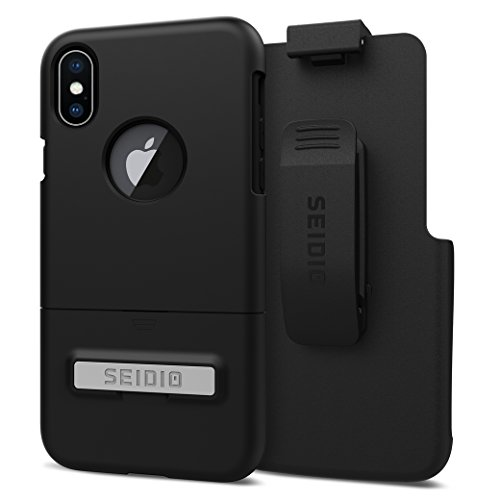 Seidio Surface Case and Holster COMBO for the Apple iPhone X (Black/Black) ()