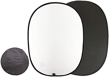 Oukaning Tragbarer Faltbarer Hintergrund Schwarz Weiß Kamera