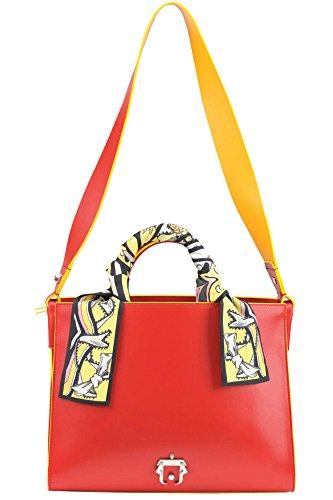 PAULA CADEMARTORI Mujer MCGLBRE03054E Rojo Cuero Bolso Tipo Shopper