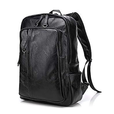 KISSUN リュック メンズ リュックサック 通勤 合成革 PU黒ビジネスバッグ A4 B4通学 ビジネス