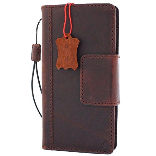 Genuine Leather Case for Samsung Galaxy Note 8 Book Wallet Magnetic Closure Cover Handmade Retro Luxury Cards Slots Slim Holder Daviscase