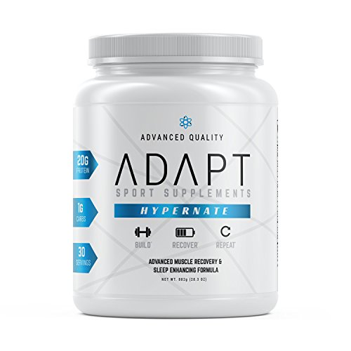 ADAPT HYPERNATE | Micellar Casein Protein Powder | Natural Sleep Aid and Muscle Recovery Supplement | Low-Carb | 30 Servings, Chocolate