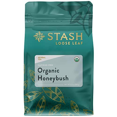 Stash Tea Organic Honeybush Tea Loose Leaf 3.5 Ounce Pouch Loose Leaf Premium Organic Honeybush Herbal Tea for Use with Tea Infusers Tea Strainers or Teapots, Drink Hot or Iced, Sweetened or Plain