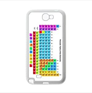 Best Custom Case - White Background Design Periodic Table Of The Elements Samsung Galaxy Note2 N7100 Plastic and TPU Case, Cell Phone Cover Kimberly Kurzendoerfer