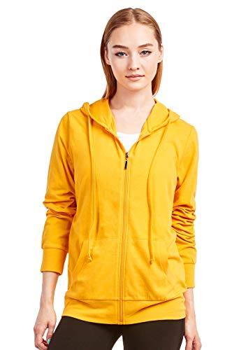 Sofra Women's Thin Cotton Zip Up Hoodie Jacket (M, ()