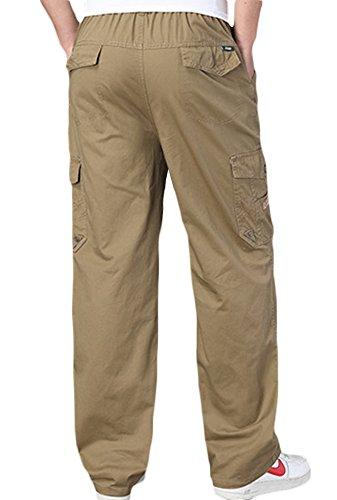 Outdoor Coton Sk Elastique Ceinture Multipoches Homme Droit Jaune Taille Grande Pantalon Studio ERTTqWwI