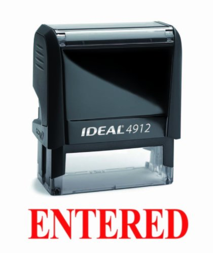 NEW Trodat Best Selling Red Office Self-Inking Stock Rubber Stamp - ENTERED