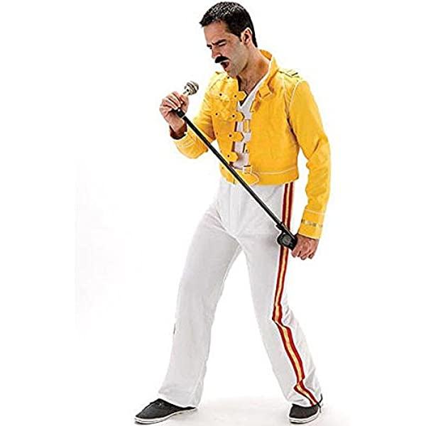 Mens 1980s music fancy dress costume - I Will Rock You - standard ...