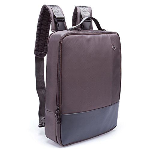 "Men Casual Oxford Water Resistant Zipper School Bag 16.5"" Laptop Backpack, Gray"