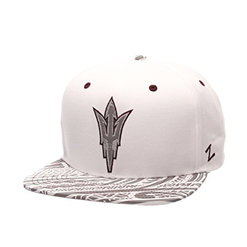 NCAA Arizona State Sun Devils Men's Lahaina Snapback Cap, Adjustable Size, White ()