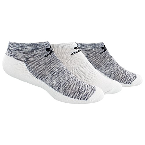 adidas Men's Originals Cushioned No Show Socks (3 Pack), White Space Print/Black/Clear Onix/Grey Space, Large ()
