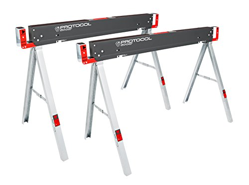 Equipment Work Table (PROTOCOL Equipment SH-047 Work Table Folding Sawhorse, Set of)