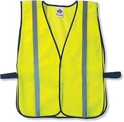 Ergodyne GloWear 8020HL Non-Certified Reflective High Visibility Vest, One Size, Lime
