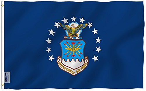 Anley Fly Breeze 3x5 Foot US AirForce Flag - Vivid Color and
