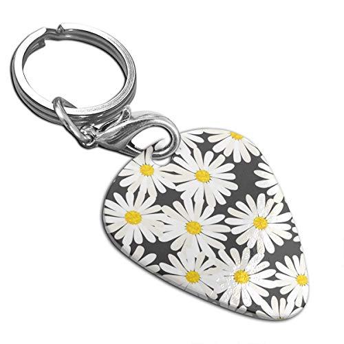 Little Daisy Guitar Pick Necklace Unique Custom Fashion Pet Card Keychain
