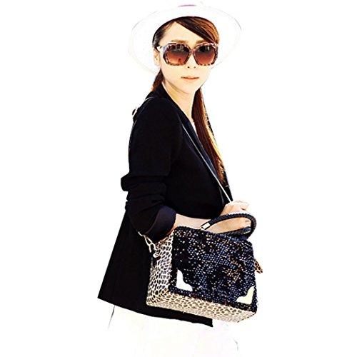 Ardisle–Designer Donna in Pelle Borsa Nero Leopardo Borsa A Tracolla